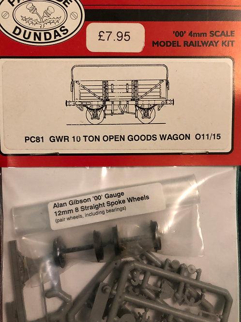 PARKSIDE DUNDAS PC81 GWR 10 TON OPEN GOODS WAGON 011/15