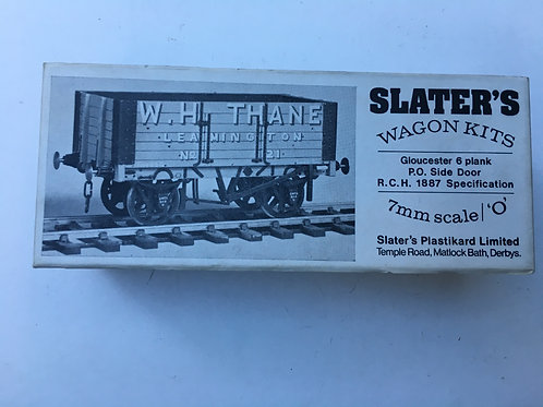 SLATERS WAGON KIT 7035 GLOUCESTER 6 PLANK OPEN RCH 1887 SPECIFICATION SI