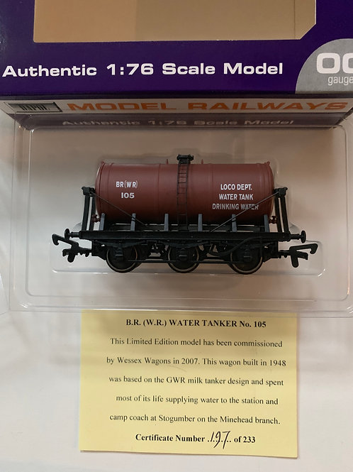 B.R. (W.R.) WATER TANKER WAGON No 105 - LIMITED EDITION
