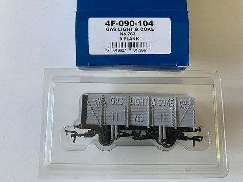 4F-090-104 9 PLANK WAGON GAS LIGHT & COKE No 763