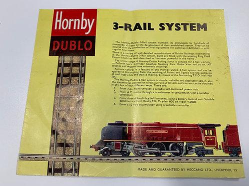 HORNBY DUBLO - 3-RAIL SYSTEM - CATALOGUE