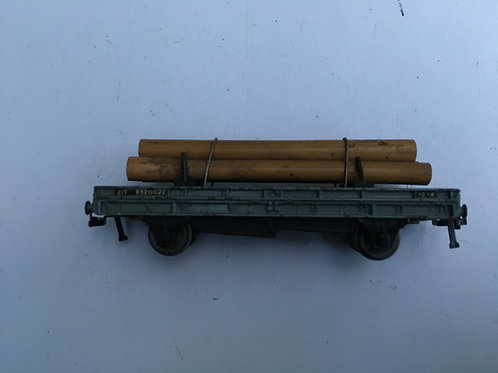 32052 21T BOGIE BOLSTER WAGON WITH LOG LOAD