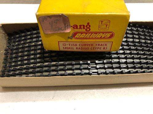 T.150 TYPE B TRACK - 12 x STANDARD CURVE SMALL RADIUS BOXED