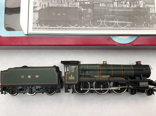 D3 G.W.R. 4-6-0 COUNTY OF WORCESTER LOCO & TENDER 1029