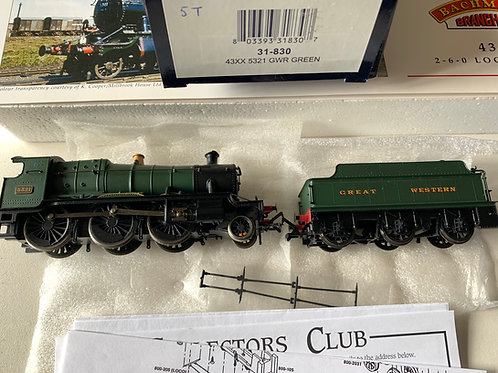 31-830 43XX 5321 GWR GREEN LOCO & TENDER