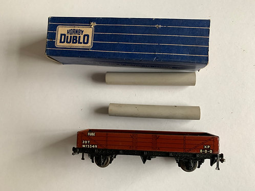 32076 20T TUBE WAGON W73349 WITH LOAD - BOXED - 3 RAIL