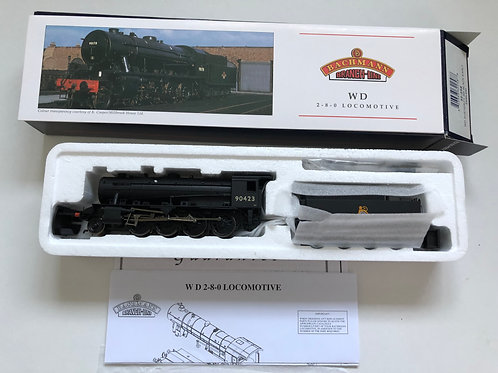 32-258 WD AUSTERITY BR BLACK EARLY EMBLEM LOCO 90423 & TENDER