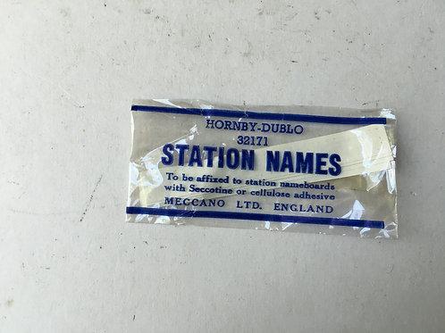 32171 STATION NAMES