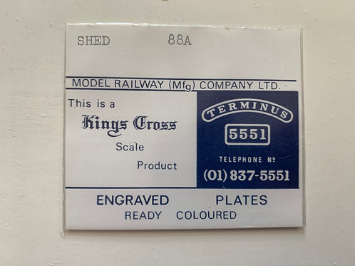 KINGS CROSS - ENGRAVED PLATES - SHED 88A