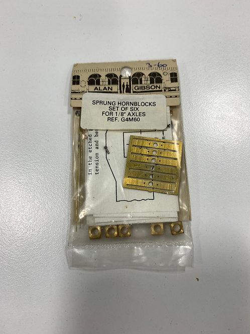 "ALAN GIBSON - G4M60 (6 SETS) SPRUNG HORNBLOCKS FOR 1/8"" AXLES"