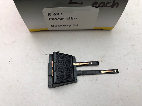 R.602 POWER CONNECTING CLIP (BLACK)