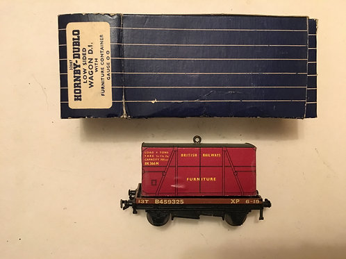 32087 LOW SIDED WAGON WITH FURNITURE CONTAINER BOXED