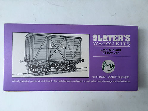 SLATERS WAGON KIT LMS/MIDLAND 8T BOX VAN
