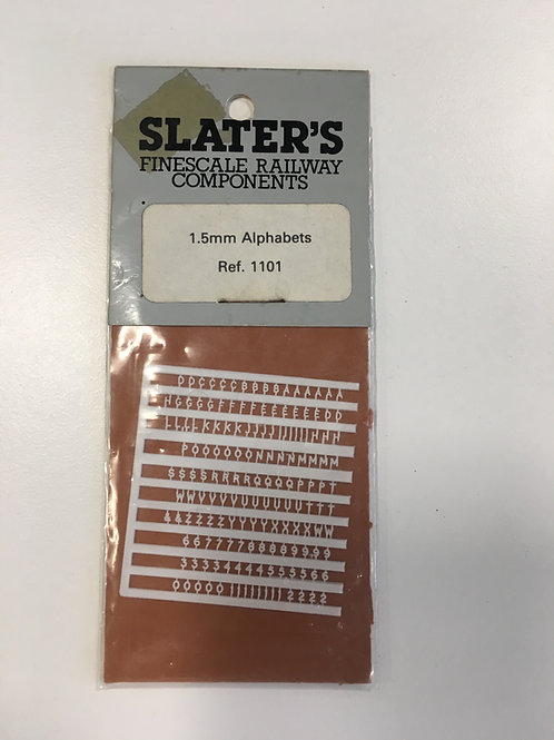 SLATER'S - 1101 1.5mm ALPHABETS