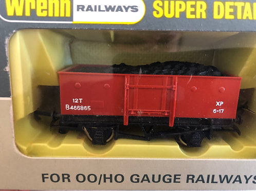 W4640 GOODS WAGON STEEL TYPE (RED) WITH COAL