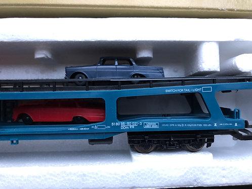 305696 MOTORAIL 2 DECK BOGIE CAR TRANSPORTER WITH 4 CARS