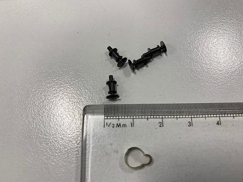 SET OF 4 x BLACK METAL ROUND HEAD COACH / WAGON BUFFERS