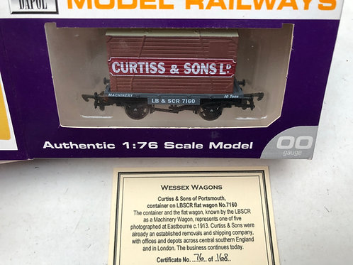 LB & SCR FLAT BED WAGON WITH CURTIS & SONS CONTAINER - PORTSMOUTH