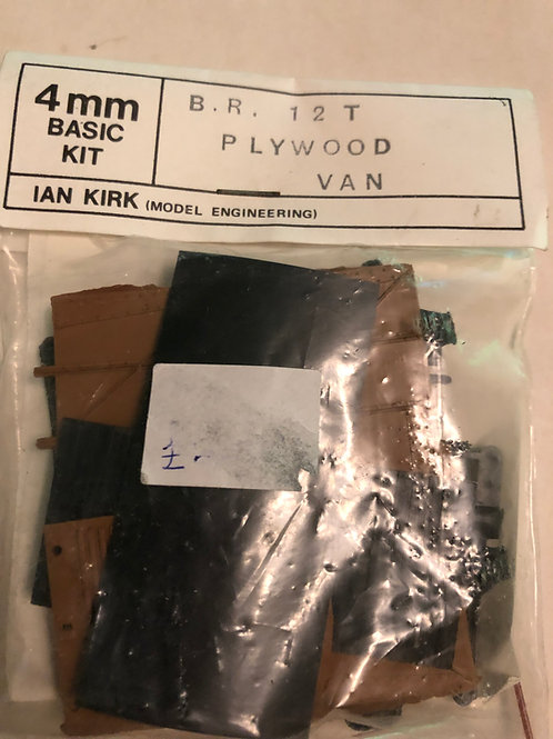 IAN KIRK BR 12T PLYWOOD VAN