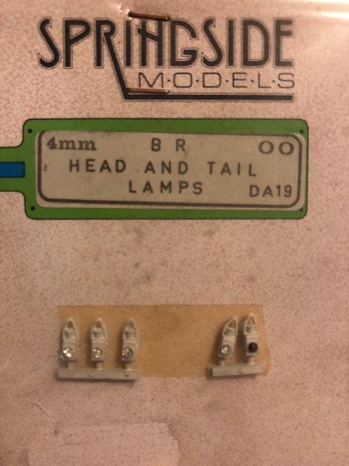 SPRINGSIDE MODELS - No DA19 BR HEAD & TAIL LAMPS