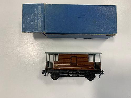 32045 D1 GOODS BRAKE VAN L.M.S. BOXED 4/1951 - 2 OR 3 RAIL