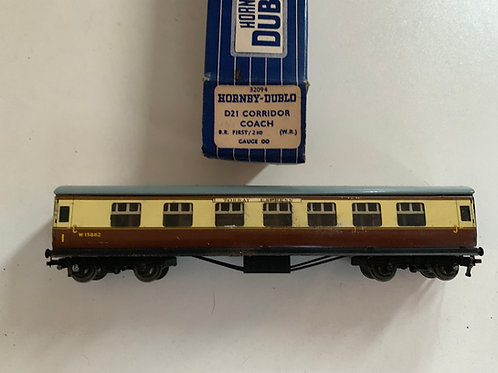 32094 D21 CORRIDOR COACH 1ST / 2ND WR W15862 - BOXED - TORBAY EXPRESS