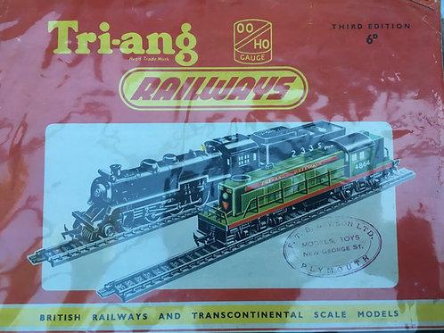TRI-ANG  RAILWAYS CATALOGUE - THIRD EDITION 1957