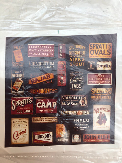 TINY SIGNS - PERIOD ADVERTISING SIGNS (REAL PHOTO QUALITY)