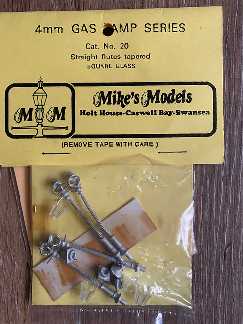 MIKE'S MODELS - No 20 GAS LAMP - STRAIGHT FLUTES TAPERED