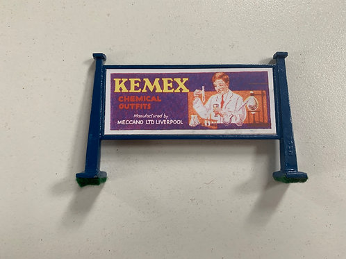 HORNBY MECCANO HOARDING - KEMEX / ELEKTRON