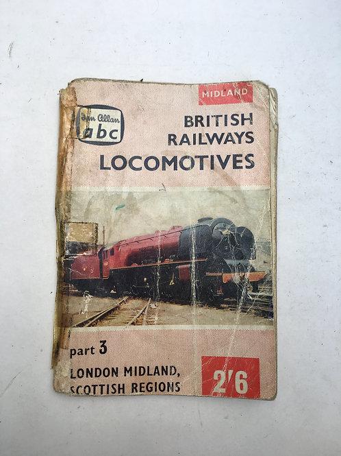 IAN ALLAN - ABC BRITISH RAILWAYS LOCOMOTIVES - 1959 - LONDON, MIDLAND SCOTTISH