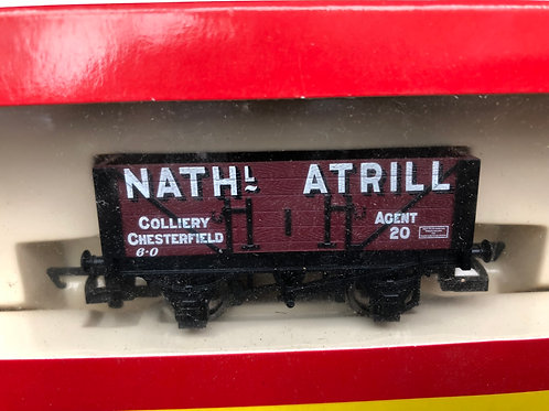 R.6115 5 PLANK WAGON NATHANIAL ATRILL COLLIERY No20 - CHESTERFIELD