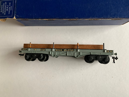 32051 D1 BOGIE BOLSTER WAGON (B.R.) WITH LOAD