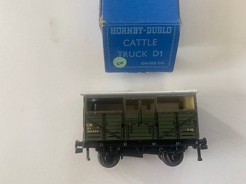 32020 GWR D1 CATTLE TRUCK 106324 BOXED 10/1951