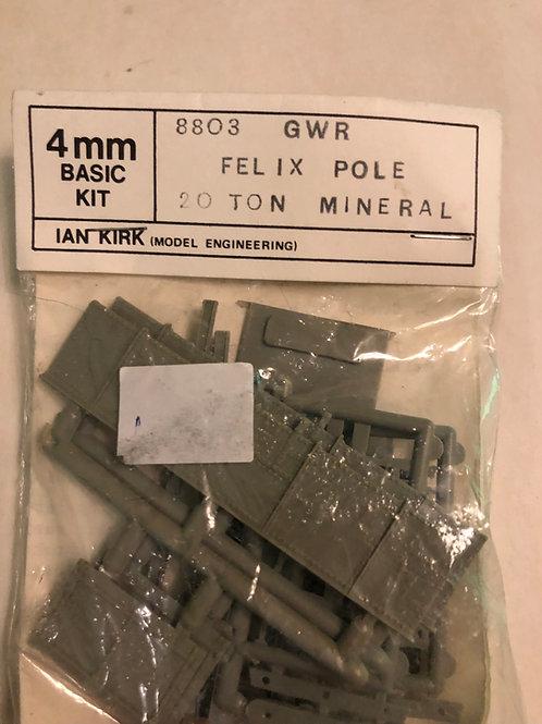 IAN KIRK 8803 G.W.R. FELIX POLE 20T MINERAL WAGON