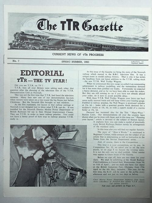 TTR TRIX TWIN RAILWAY - GAZETTE No 7 SPRING 1953