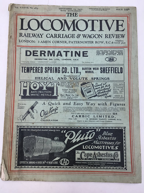 THE LOCOMOTIVE RAILWAY CARRIAGE AND WAGON REVIEW - SEPTEMBER 1931