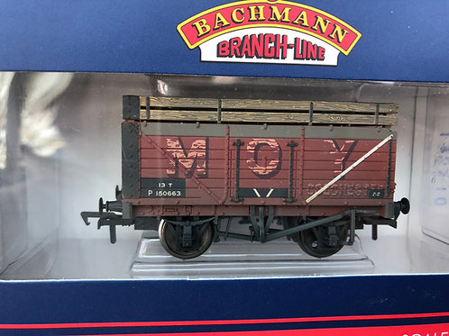 37-188 7 PLANK COKE WAGON BR 'P' NUMBERED EX MOY WEATHERED