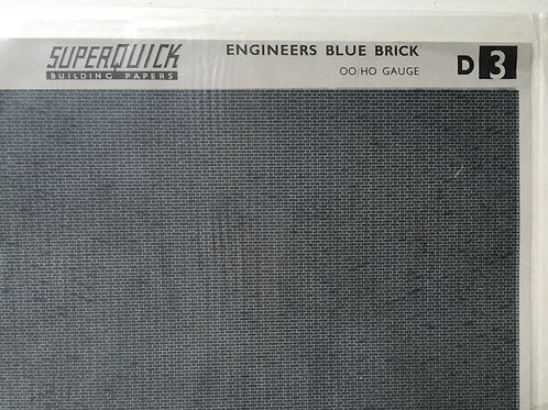 SUPERQUICK BUILDING PAPERS D3 ENGINEERS BLUE BRICK