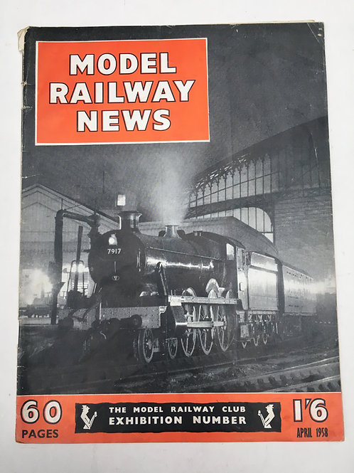 MODEL RAILWAY NEWS - APRIL 1958