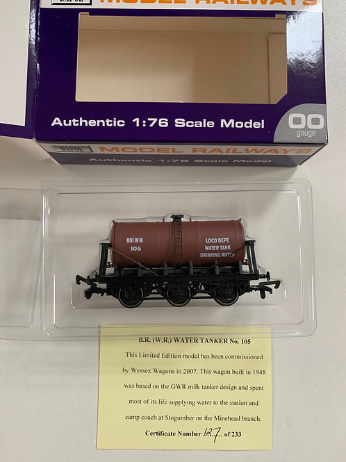B.R. (W.R.) WATER TANKER WAGON No 127 - LIMITED EDITION