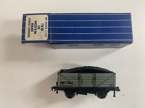 32075 OPEN WAGON WITH COAL LOAD D1 (BR) BOXED