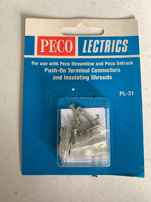PL-31 PUSH ON TERMINAL CONECTORS & INSULATING SHROUDS