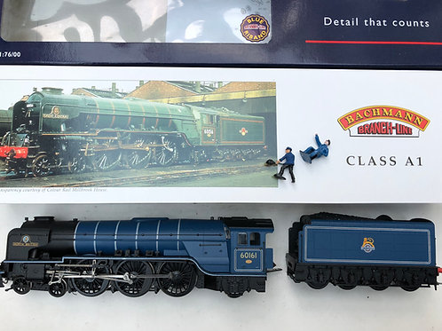 32-553 CLASS A1 60161 NORTH BRITISH BR BLUE E/EMBLEM LOCO & TENDER - DCC READY