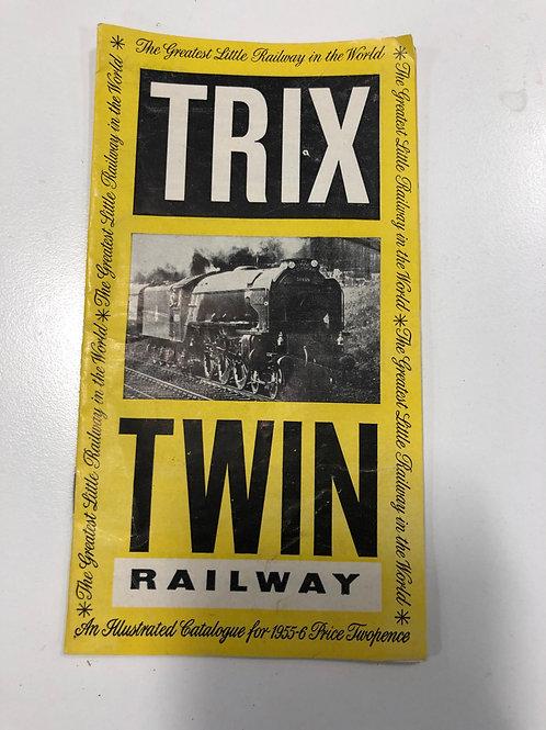 TTR TRIX TWIN RAILWAY - 1955/56 CATALOGUE