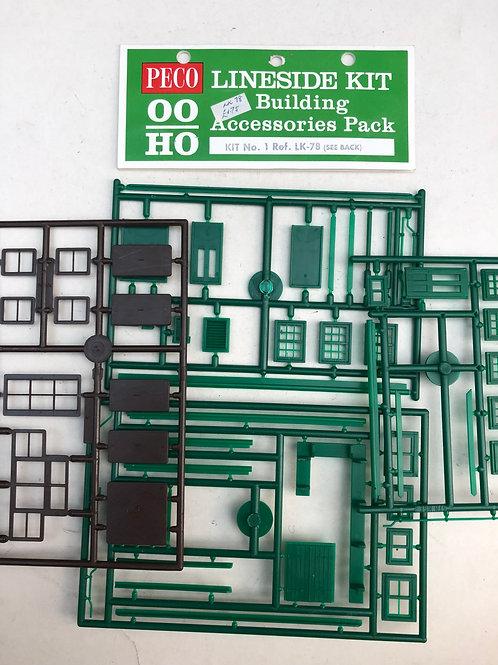 LK-78 BUILDING ACCESSORIES PACK - WINDOWS, DOORS GUTTERS ETC