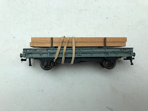 4615 DOUBLE BOLSTER WAGON WITH TIMBER LOAD