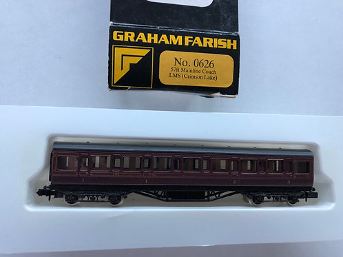 0626 57ft LMS MAINLINE COACH (CRIMSON LAKE)