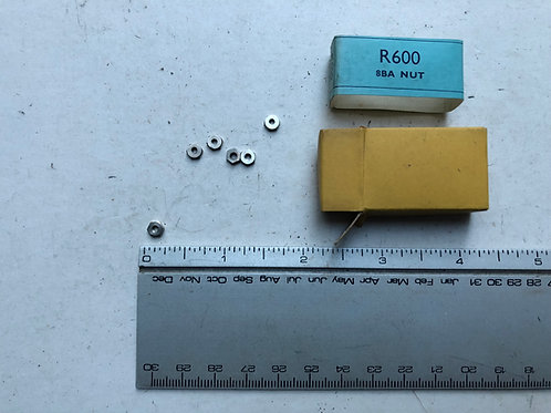 11981 BOX OF 6 R600 8BA NUTS