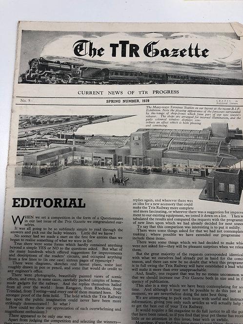 TTR TRIX TWIN RAILWAY - GAZETTE No 5 SPRING 1939